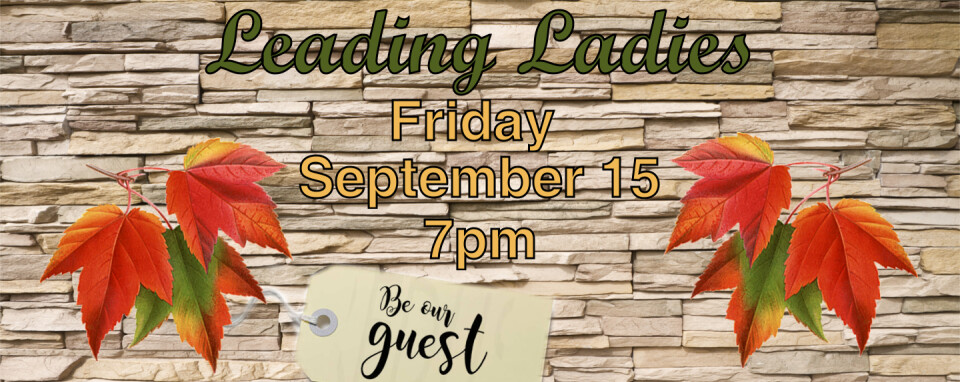 Leading Ladies @7pm