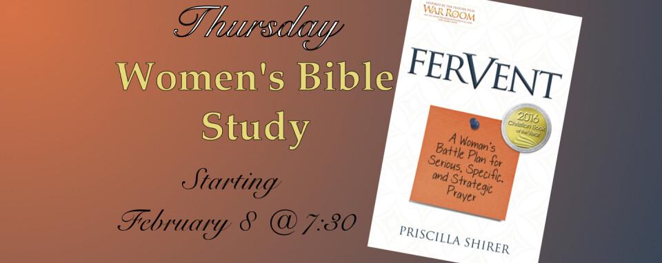 Women's Bible Study @ 7:30p