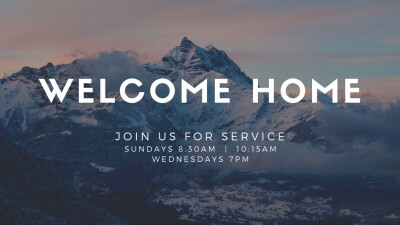 Sunday Morning Service 8:30am & 10:15am